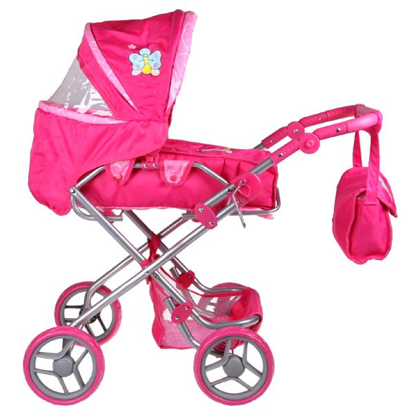 Kočárek pro panenky Boncare K3 růžový