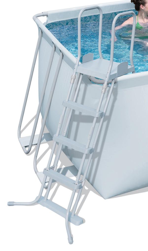 Schůdky k bazénům 122 cm bezpečnostní DELUXE