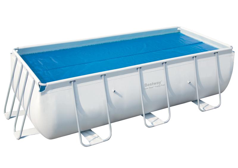 Solární plachta na bazén 412 cm x 201 cm