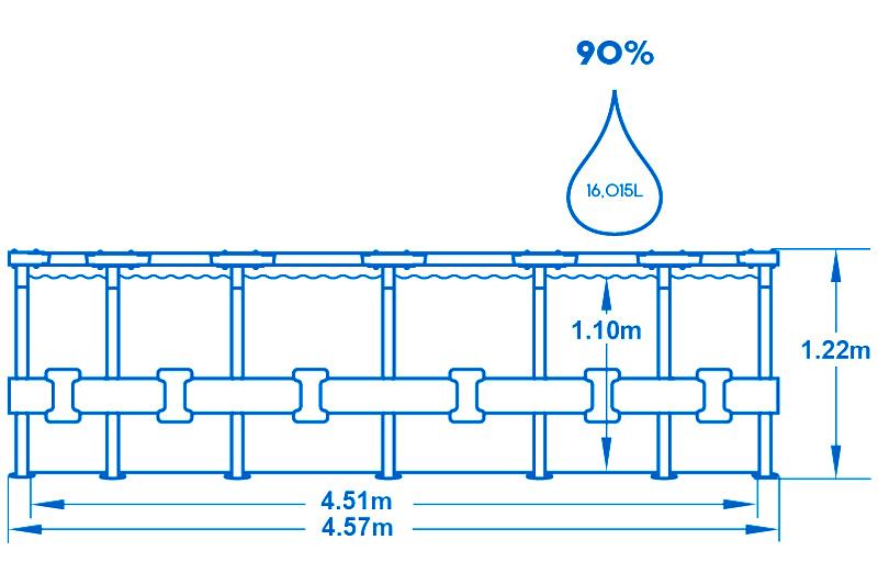 Bestway Bazén Steel Pro Frame 4,57 x 1,22 m 56100