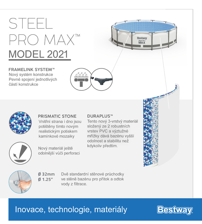 Bestway Steel Pro Frame 4,57 x 1,22 m 56439